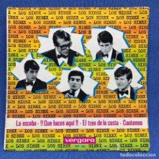 Discos de vinilo: SINGLE LOS SIREX - LA ESCOBA - QUE HACES AQUI - EL TREN DE LA COSTA - ESPAÑA - AÑO 1965. Lote 221538335