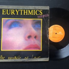 Discos de vinilo: EURYTHMICS ?– THE MIRACLE OF LOVE. Lote 221540220
