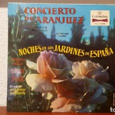 Discos de vinilo: *** CONCIERTO DE ARANJUEZ / NOCHES JARDINES DE ESPAÑA - LP AÑO 1958 - LEER DESCRIPCIÓN. Lote 221543106