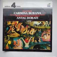 Discos de vinilo: CARL ORFF. CARMINA BURANA. ANTAL DORATI. LP. TDKLP. Lote 221551305