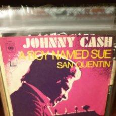 Discos de vinilo: JOHNNY CASH / SAN QUENTIN / EDICIÓN FRANCESA / CBS 1969. Lote 221551587