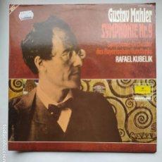 Discos de vinilo: GUSTAV MAHLER - SYMPHONIE Nº 9 ORCHESTER DES BAYERISCHEN RUNDFUNKS - RAFAEL KUBELIK. DOBLE LP. TDKLP. Lote 221552551