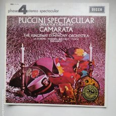 Discos de vinilo: PUCCINI SPECTACULAR OPERA FOR ORCHESTRA CAMARATA CONDUCTING THE KINGSWAY SYMPHONY ORCHESTRA TDKLP. Lote 221552685