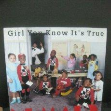 Discos de vinilo: NUMARX. GIRL YOU KNOW IT'S TRUE. MAXI SINGLE BLANCO Y NEGRO 1988.. Lote 221555798