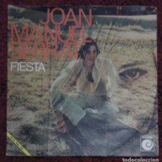 Discos de vinilo: JOAN MANUEL SERRAT (SEÑORA / FIESTA) SINGLE 1970. Lote 221557540