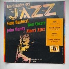 Discos de vinilo: LOS GRANDES DEL JAZZ. Nº 6. GATO BARBIERI. DON CHERRY. GRAN ENCICLOPEDIA SARPE. TDKLP. Lote 221558797