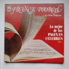 Discos de vinilo: FRANCK POURCEL Y SU GRAN ORQUESTA. LO MEJOR DE LAS PAGINAS CELEBRES I. DOBLE LP. TDKLP. Lote 221558828