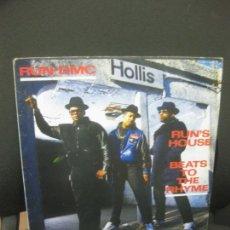 Discos de vinilo: RUN-DMC. RUN'S HOUSE- BEATS TO THE RHYME. LONDON RECORDINGS 1987.. Lote 221558992