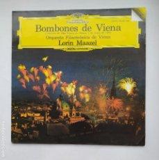 Discos de vinilo: BOMBONES DE VIENA. ORQUESTA FILARMONICA DE VIENA. LORIN MAAZEL. LP. TDKDA77. Lote 221559170