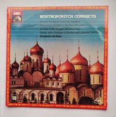 Discos de vinilo: ROSTROPOVITCH CONDUCTS. CAPRICCIO ESPAGNOL. A NIGHT ON THE BARE MOUNTAIN. ORCHESTRE PARIS LP TDKDA77. Lote 221559581