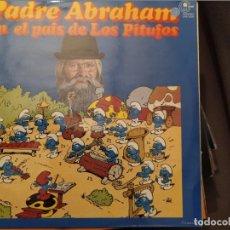 Discos de vinilo: PADRE ABRAHAM EN EL PAIS DE LOS PITUFOS, CARNABY CON ENCARTE CON LETRAS Y DIBUJO PARA COLOREAR. Lote 221560358