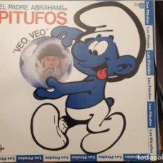 Discos de vinilo: EL PADRE ABRAHAM Y SUS PITUFOS :VEO VEOS, CARNABY 1980 CON ENCARTE Y LETRAS. Lote 221560471