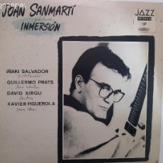 Discos de vinilo: JOAN SANMARTI- INMERSION- LP 1988 + 3 HOJAS PROMO- VINILO COMO NUEVO.. Lote 221567166