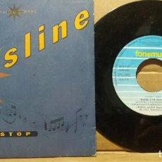 Discos de vinilo: BASSLINE - LIMAHL / STOP / SINGLE 7 INCH. Lote 221567493