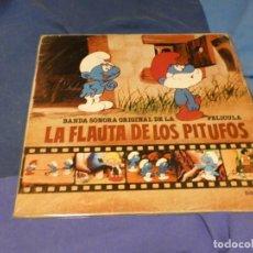 Discos de vinilo: EXPRO LP B.S.O DE LA PELI LA FLAUTA DE LOS PITUFOS 80 BUEN ESTADO. Lote 221574041