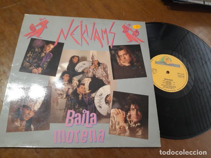NEKUANS - BAILA MORENA MAXI -ESPAÑA-1990 (Música - Discos de Vinilo - Maxi Singles - Grupos Españoles de los 90 a la actualidad)