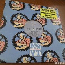 Discos de vinilo: AMERICAN FORCE - ROCK SENSATION - BELGIUM - MAXI-. Lote 221577651