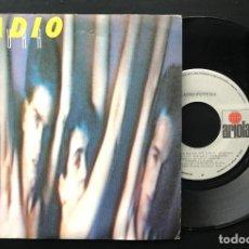 Discos de vinilo: RADIO FUTURA ESCUELA DE CALOR ARIOLA SINGLE 1984 VINILO COMO NUEVO NM, CARPETA EXCELENTE. Lote 221578937