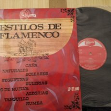 Discos de vinilo: 9 ESTILOS DE FLAMENCO, 1968. Lote 221589838