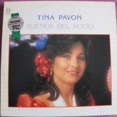 Discos de vinilo: LP SEVILLANAS - TINA PAVON - SUEÑOS DEL ROCIO (SPAIN, BELTER 1984). Lote 221589932