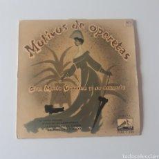 Discos de vinilo: MOTIVOS DE OPERETAS. GIAN MARIO GUARINO Y SU ORQUESTA. LA VOZ DE SU AMO. 7ERL 1.130. VG+/VG+. Lote 221590361