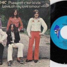 Discos de vinilo: ANARCHIC SYSTEM - PUSSYCAT C'EST LA VIE - SINGLE DE VINILO EDICION ESPAÑOLA. Lote 221591710