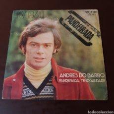 Discos de vinilo: ANDRES DO BARRO - PANDEIRADA / TEÑO SAUDADE. Lote 221591871