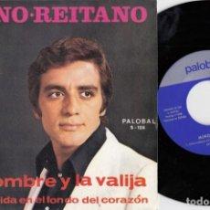 Discos de vinilo: MINO REITANO - EL HOMBRE Y LA VALIJA - SINGLE DE VINILO EDICION ESPAÑOLA - PALOBAL. Lote 221597340