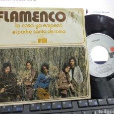 Discos de vinilo: FLAMENCO SINGLE EL PADRE SANTO DE ROMA 1972. Lote 221602885