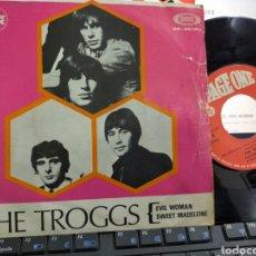 Discos de vinilo: THE TROGGS SINGLE EVIL WOMAN ESPAÑA 1969. Lote 221603502