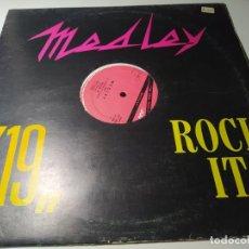 """Discos de vinilo: MAXI - J.J. YOUNG ?– MEDLEY """"19"""" """"ROCK IT"""" - OUT 3042 ( VG+ / VG+) ITALY 1985 ( TEMAZZOOOOOOOOO). Lote 221610232"""