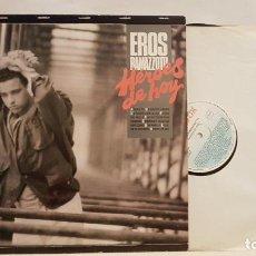 Discos de vinilo: LP VINILO DISCO EROS RAMAZZOTTI HEROES DE HOY MUY BUEN ESTADO. Lote 221611510