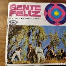 Discos de vinilo: GENTE FELIZ - NO TE ENROLLES ********** RARO SINGLE SUNSHINE POP ESPAÑOL 1969. Lote 221621506
