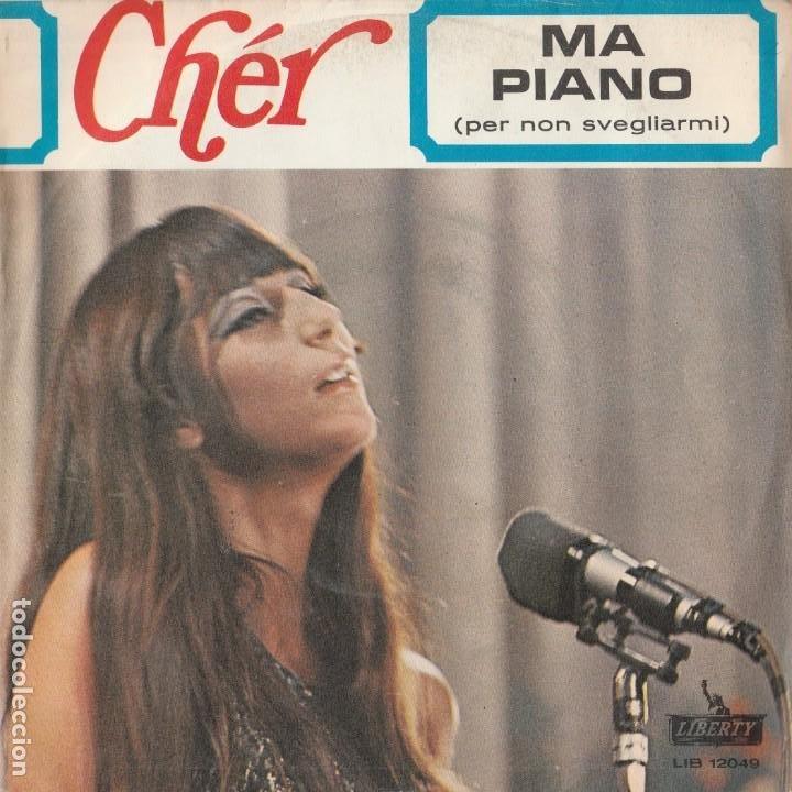 45 GIRI SINGLE CHER MA PIANO ( PER NON SVEGLIARMIÀ GIANNI MECCIA SANREMO 67 LIBERTY (Música - Discos de Vinilo - Maxi Singles - Otros Festivales de la Canción)