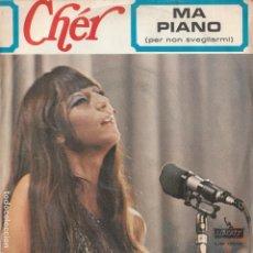 Discos de vinilo: 45 GIRI SINGLE CHER MA PIANO ( PER NON SVEGLIARMIÀ GIANNI MECCIA SANREMO 67 LIBERTY. Lote 221632275