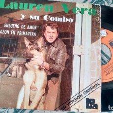 Discos de vinilo: SINGLE ( VINILO) DE LAUREN VERA AÑOS 70. Lote 221633496