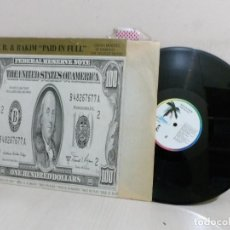 Discos de vinilo: ERIC. B. RAKIM PAID IN FULL---SEVEN MINUTES OF MADNESS THE COLDCUT REMIX-MADRID- 1988--BMG ARIOLA -. Lote 221633907