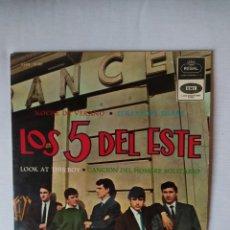 Discos de vinilo: LOS 5 DEL ESTE. NOCHE DE VERANO/LOLLIPOP/SHAKE/LOOK AT THIS VOY + 1.NUEVO SIN ENTRENAR. Lote 221638172
