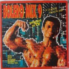 Discos de vinilo: BOLERO MIX 9. QUIQUE TEJADA MIX. FELIZ. SNAP. DR ALBAN..DOBLE LP. Lote 221640103