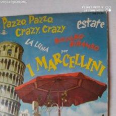 Discos de vinilo: I MARCELLINI, EP, -PAZZI, PAZZO- CRAZY-CRAZY. +3, AÑO 1960. Lote 221642968