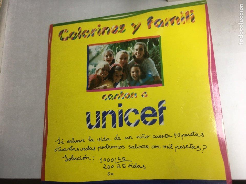 DISCO VINILO LP - COLORINES Y FAMILI - CANTAN A UNICEF (Música - Discos de Vinilo - Maxi Singles - Música Infantil)