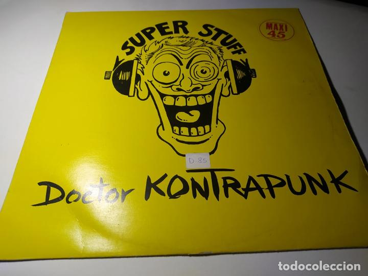 MAXI - DOCTOR KONTRAPUNK ?– SUPER STUFF - -EF004 ( VG+ / VG+) SPAIN 1984 (Música - Discos de Vinilo - Maxi Singles - Disco y Dance)