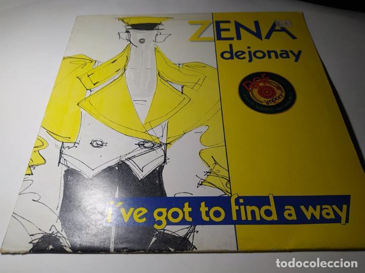MAXI - ZENA DEJONAY ?– I'VE GOT TO FIND A WAY - CHANNEL 12-6 ( VG+ / VG+) BELGICA 1984 (Música - Discos de Vinilo - Maxi Singles - Disco y Dance)