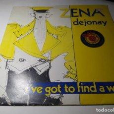 Discos de vinilo: MAXI - ZENA DEJONAY ?– I'VE GOT TO FIND A WAY - CHANNEL 12-6 ( VG+ / VG+) BELGICA 1984. Lote 221645568