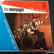 Discos de vinilo: SINGLE LOS RELAMPAGOS /LOS VIKINGOS / EL PASO DE LOS URALES MUY NUEVO. Lote 221646473