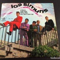 Discos de vinilo: EP LOS SIMUNS /CREEME/HOLD TIGHT/ ESTOY SOLO/ YOU DON'T LOVE ME. Lote 221646908