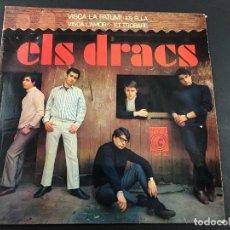 Discos de vinilo: EP ELS DRACS CON ENCARTES /VISCA LA PATUM/ES ELLA/VISCA L'AMOR/ ET TROBARE PATUM BERGA. Lote 221647047