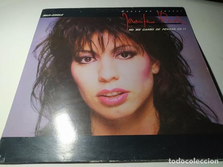 MAXI - JENNIFER RUSH ?– NO ME CANSO DE PENSAR EN TI - CBS 650123 6 ( VG+/ VG+) SPAIN 1986 (Música - Discos de Vinilo - Maxi Singles - Disco y Dance)
