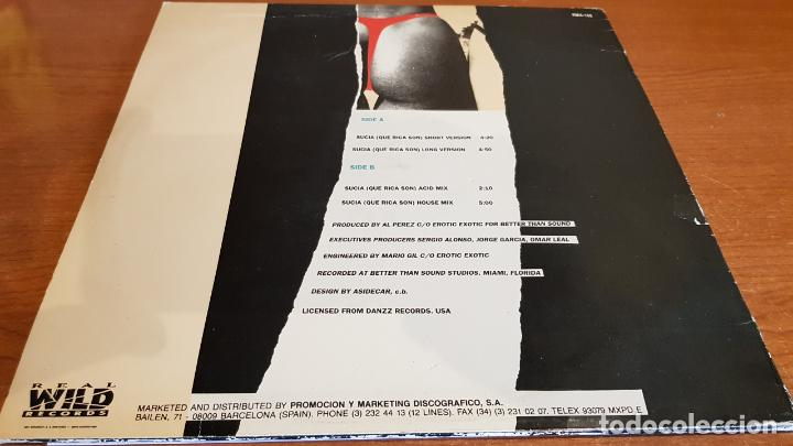 Discos de vinilo: LOS SUCIOS / SUCIA QUE RICA SON / MAXI SG - WILD RECORDS-1990 / MBC. ***/*** - Foto 2 - 221650946