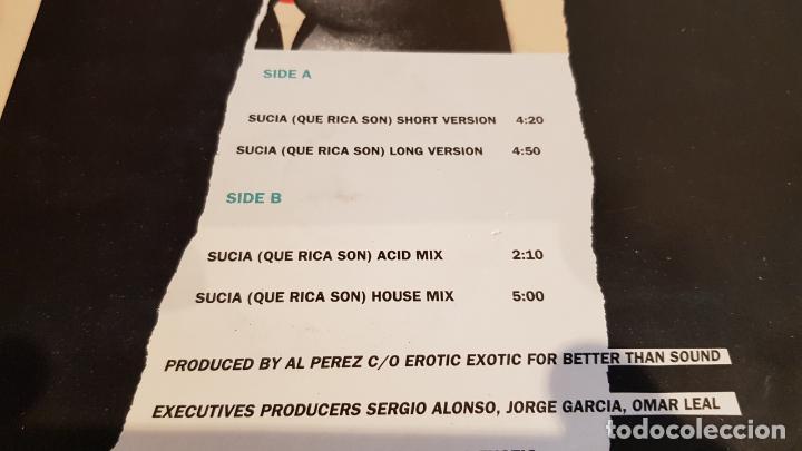 Discos de vinilo: LOS SUCIOS / SUCIA QUE RICA SON / MAXI SG - WILD RECORDS-1990 / MBC. ***/*** - Foto 3 - 221650946